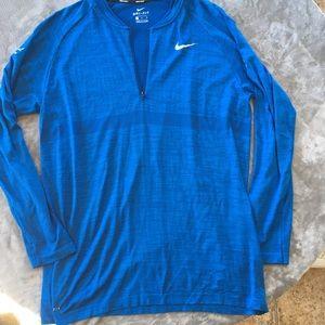 Nike Golf Long-Sleeve Blue Half Zip Pullover